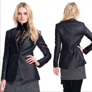 Rag & Bone Black metallic 42 street blazer 2 A2